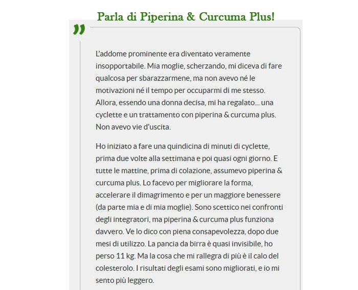 Opinioni di Piperina e Curcuma Plus