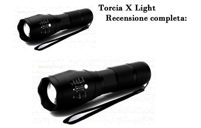 X Light torcia recensione