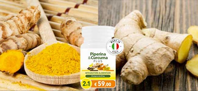 Ingredienti di Piperina Curcuma Plus
