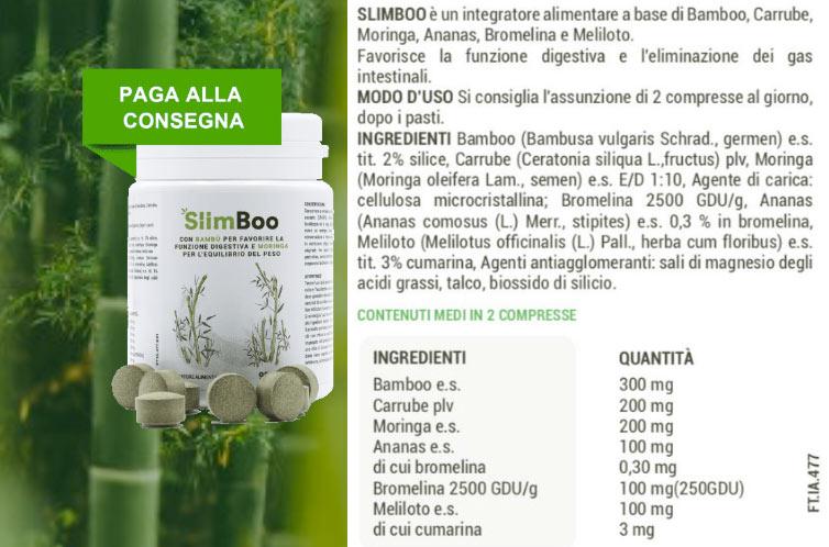 Ingredienti di Slimboo